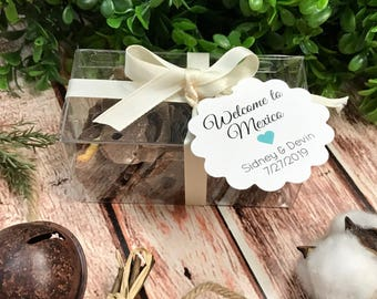 Welcome to our Wedding Printed Cardstock Wedding Tags, Wedding Favor Tags, Favor Tags, Party Favor Tags (SC-219)