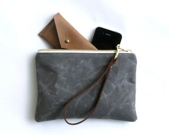 The Wristlet Waxed Canvas  //  waxed canvas pouch bag purse wallet