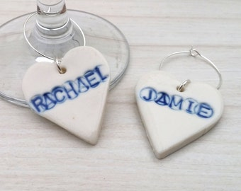 personalised wine charms - personalised wine glass charms - Thanksgiving gift - custom wine charm - custom wine glass charm - Christmas gift