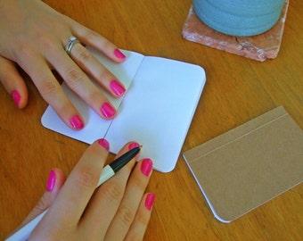 Plain Tiny Notebook, Tiny Journal, Handmade Tiny Diary and Jotter, Idea and To-Do Notebook, Blank Paper Notebook