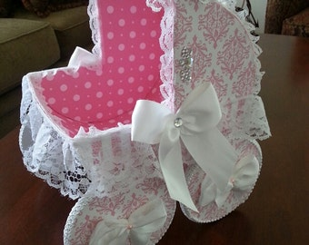 Baby Eliza Baby Carriage Centerpiece / Baby Gift Basket / Baby Shower Gift