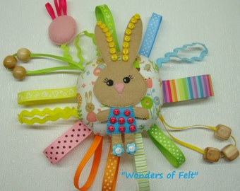 Busy Toy, Sensory Rattle Educational development Quiet toy baby gift