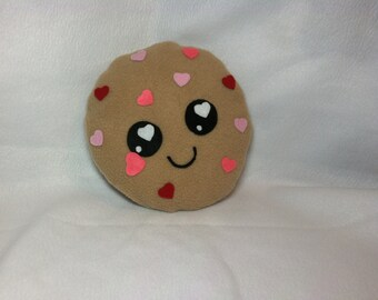 Heart Chip Cookie Plush, Valentine's Day Plush, Kawaii