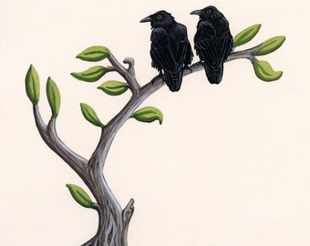 Art Print - Raven Couple