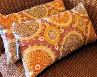 Lumbar Pillows Susanni Linen Covers Set of 2