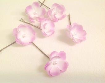 Flower Girl Hair Pins Wedding Hair Accessory 3 Small Flower Hair Pins Bridal Hair Pins Prom Hair Pins - Set of 3 - Ready to Ship!