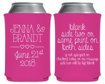 Neoprene Collapsible Can Coolers Custom Simple Beer Holders Beverage Insulator Personalized Wedding Favors | Classic (2A) | READ DESCRIPTION