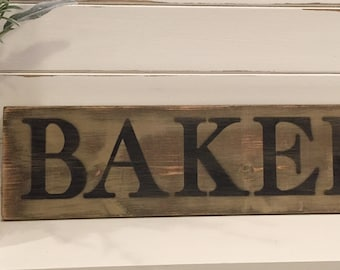 Bakery Sign, Rustic Bakery Sign, Farmhouse Bakery Sign, Kitchen Sign, Wooden Bakery Sign