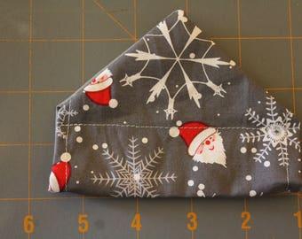 Santa Snowflake slip on collar bandana