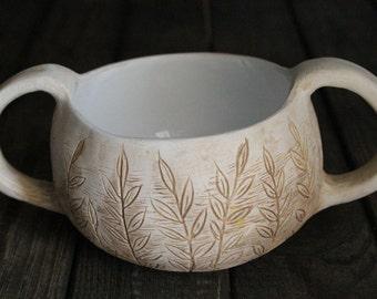 Breakfast Bowl - Ceramic Bowl - Soup Handmade bowl - serving bowl - Ceramics and Pottery - Home decor 13.5 oz