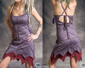 LEAF DRESS Pixie Hippy Layered Psytrance Festival Glastonbury One Size: Regular