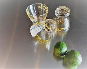 "Three Rare Calvert Whiskey ""Lo-Ball"" Glasses - Vintage Rocks or Low Ball Glasses"