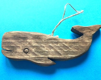 whale Christmas tree wooden ornament nautical Christmas decor whale lovers beach home coastal living holiday Beach House Dreams Home OBX
