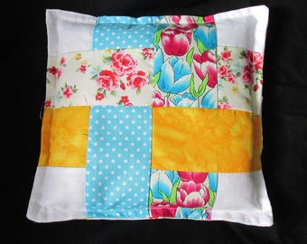 Patchwork heat pack, Heat cushion, Relaxation pack, De-stress cushion, Ice pack, pamper yourself, gift for her, patchwork pack