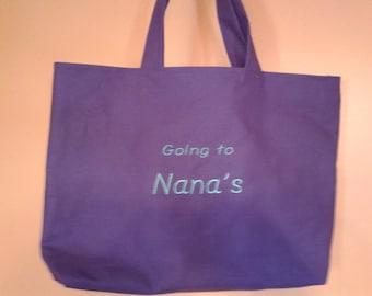 Going To Nana's tote bag