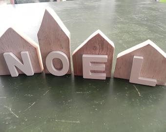 """Four houses Christmas Driftwood """"Scandinavian spirit"""""""