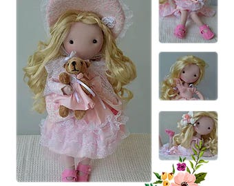 Doll Fabric pattern Fully articulated
