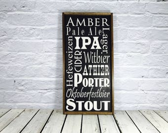 Craft Beer Sign, Gift For Him, Gifts for Boyfriend, Gift for Dad, Craft Beer Gift, Bestman Gift, Beer Gift Sign, Beer Gift , Frame Sign
