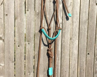 Custom Rope Halter & Attached Lead Rope, Yacht Rope Tack, Custom Halter, Horse Tack, Horse Halter, Rope Halter, Lead Rope, Clinician Halter