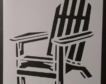 Adirondack Beach Chair Custom Stencil FAST FREE SHIPPING