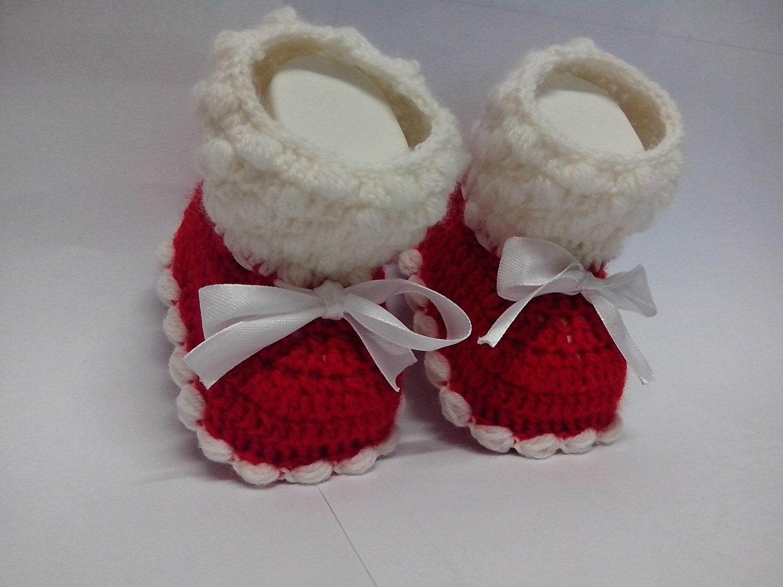 Famoso Uncinetto PATTERN N. 21 scarpine Babbo Natale neonato PJ27