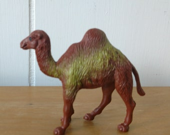 vintage toy camel figurine yellow