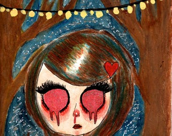 "8.5x11 Illustration Print ""Forest Light"""