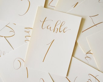 Table Numbers | Modern Calligraphy