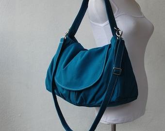 Etsy's 13th Birthday Sale 25% - Messenger Bag, Diaper Bag, Fortuner in Teal, School Bag, Shoulder Bag, Women Bag, Gift for Her, Handbag
