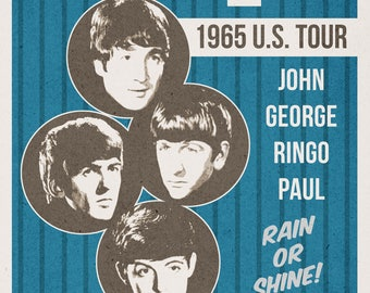 The Beatles 1965 Tour Poster