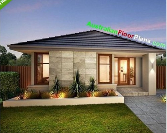 60 m2 | 645 sq foot  |  2 Bedroom house plan 60 SBH  |  Concept House Plans For Sale