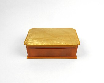 Vintage Lucite Box Shell Top