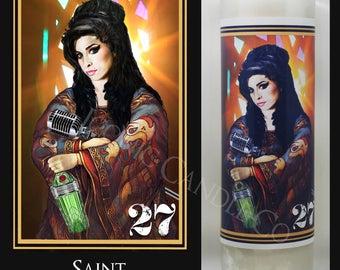 Saint Amy Winehouse Iconic Prayer Candle