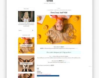 AELIN | Responsive Minimalist Premade Blogger Template