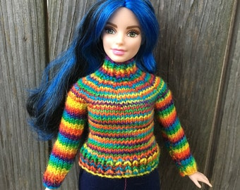 Knitting pattern- Sweater for Curvy Barbie