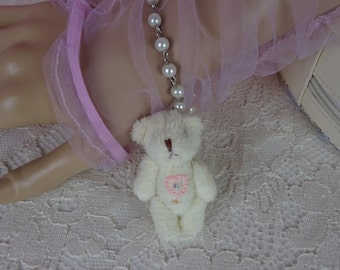 Sweet Lolita Kawaii Heart Jewel Vanilla Bear Bracelet