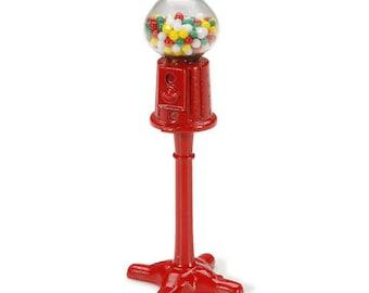 Miniature Standing Gumball Machine ~ Dollhouse Accessories ~ Diorama ~ Fairy Garden