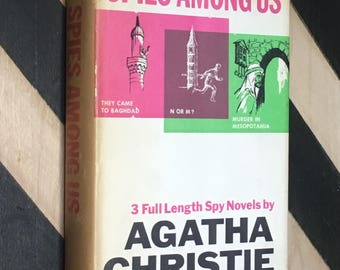 Spies Among Us: 3 Full Length Spy Novels by Agatha Christie (1968) hardcover book