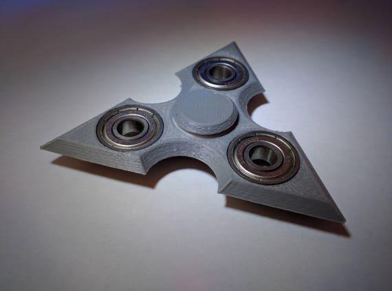 3D Printed Shuriken Ninja Star Fid Hand Spinner