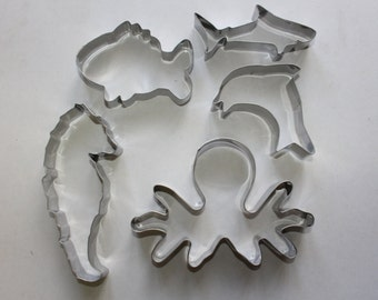 Under the Sea Stainless Steel Cookie Cutter Set 5pc