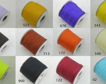 42 COLORS Available 0.8mm Chinese Knotting Cord / Braided Nylon Shamballa Beading Cord (136 yd roll)