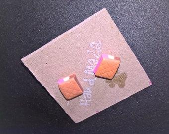 Neapolitan Ice-cream Sandwich Stud Earrings