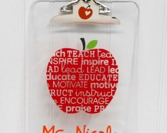 Personalized Teacher Gift- Clipboard-Teacher Gift-Teacher Appreciation Gift - End of School Year -Personalized-Graduation-