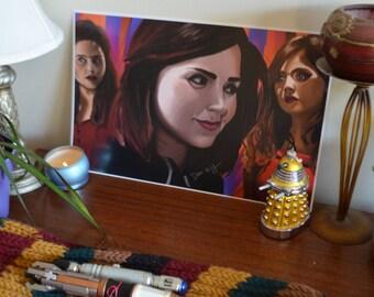 Clara Oswald Fan Art Print (Doctor Who) by Dan.n.y