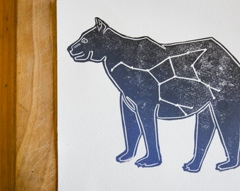 The Great Bear Lino print