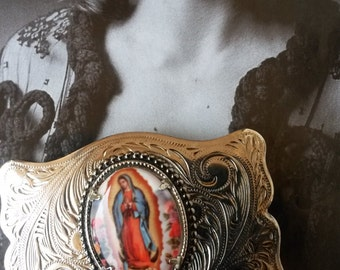 BELT BUCKLE lady Guadalupe