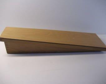 Unique handmade angled wooden box