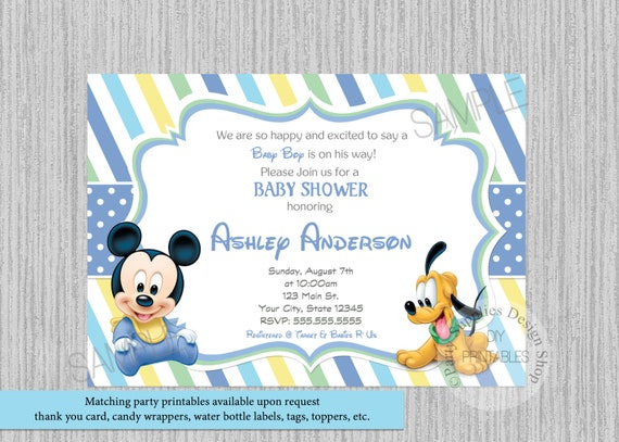 Disney baby mickey mouse baby shower invitations mickey baby filmwisefo