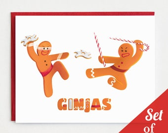 "Holiday Cards - ""Ginjas"" - Set of 6 Cards"