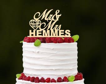 Wedding Cake Topper - Anniversary Cake Topper - Rustic Wedding Cake Topper - Wooden Cake Topper - Personalized - Cake Toppers for Wedding